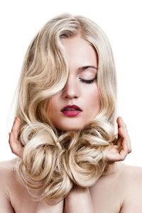 wavy-prom-hair at Darren Michael hair salon Oldham