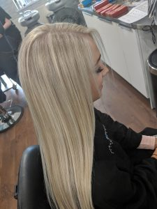blonde hair colours at darren michael hair salon oldham