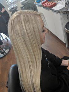 blonde hair colours at darren michael hair salon oldham