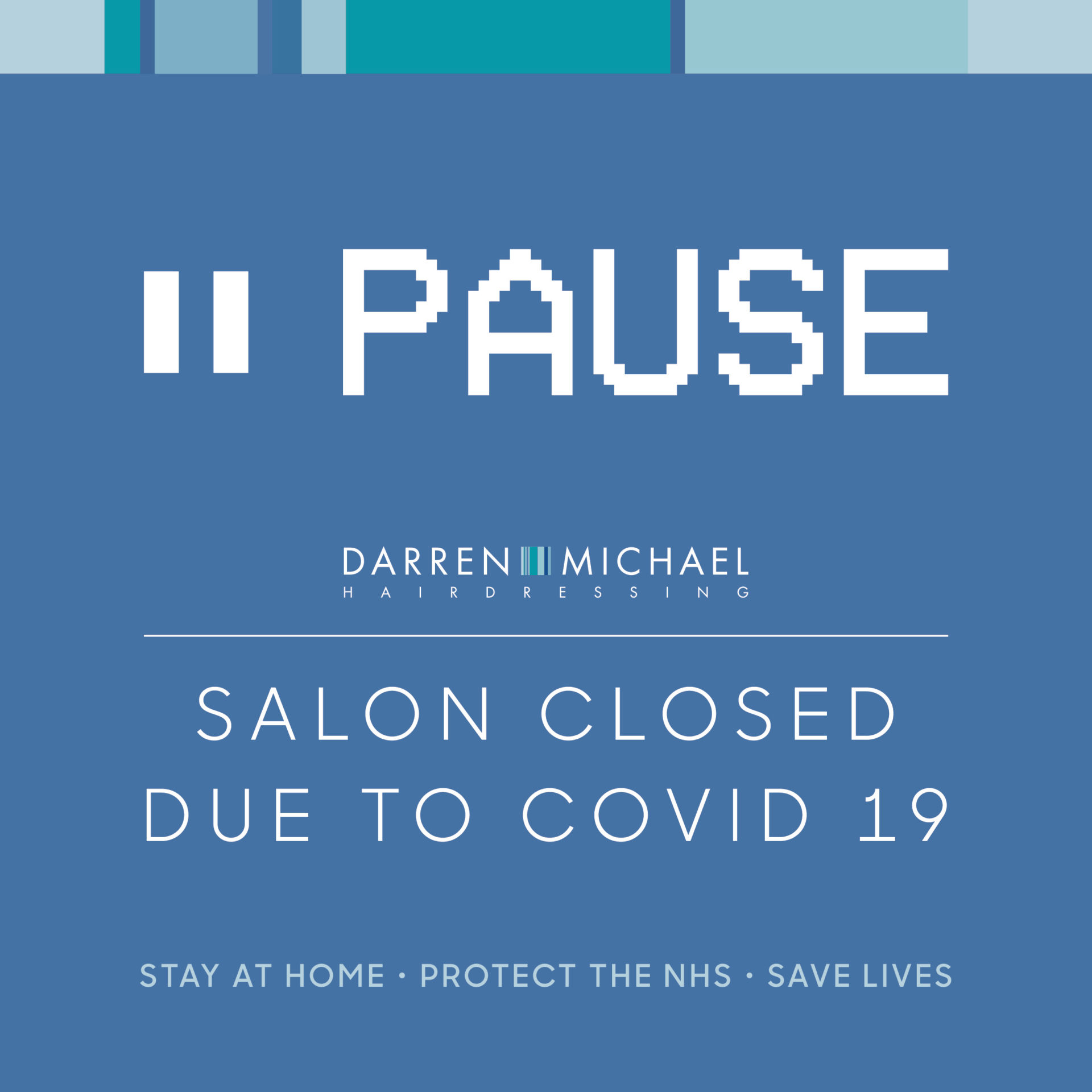 Salon Closed/Paused-Covid-19