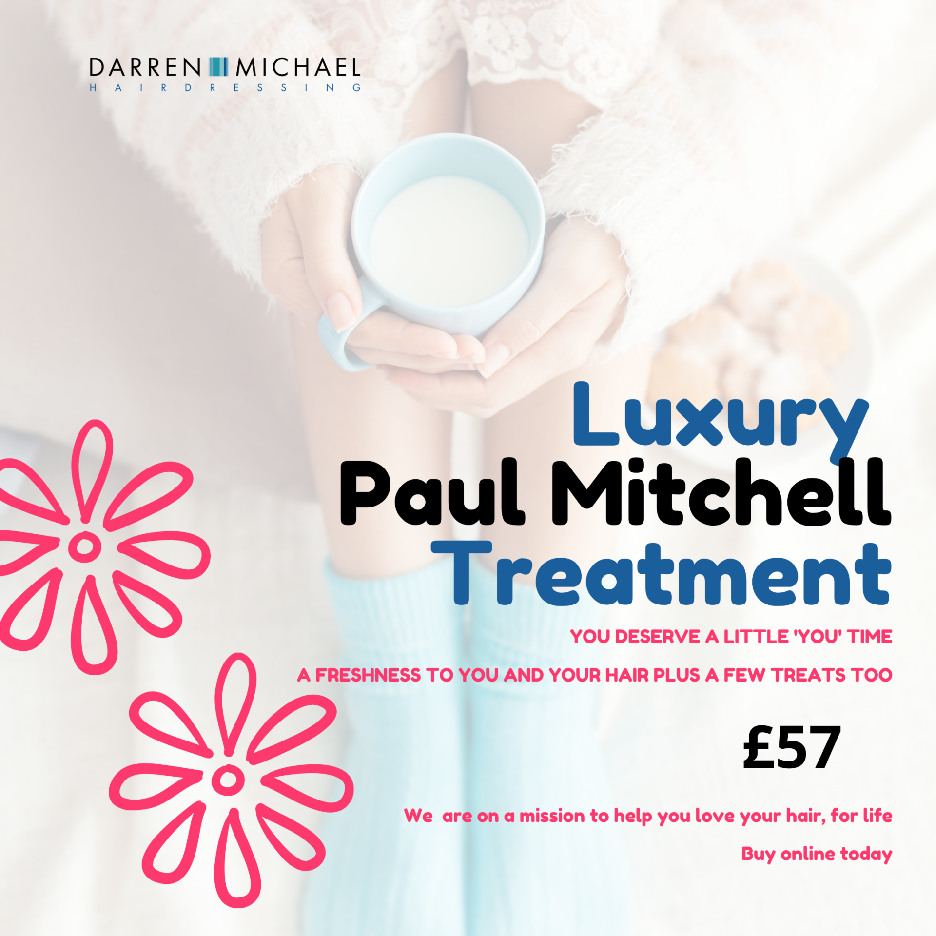 Unique Paul Mitchell Treatment to revitalise you and your hair in Oldham