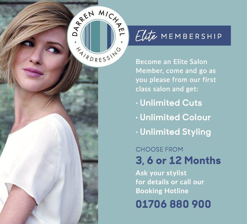 Elite Membership at Darren Michael hairdressing in Oldham