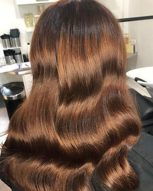 Glossy-red-brunette-hair-colour-at-best-hairdressers-in-Rochdale
